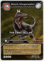 Black Megaraptor TCG card