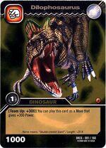 Dilophosaurus TCG card
