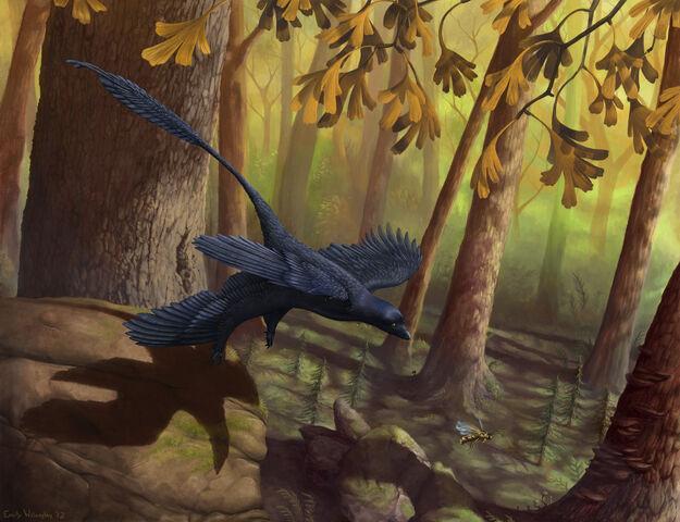 File:Microraptor-takeoff.jpg