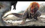 Feathered tarbosaurus