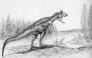 Cryolophosaurus ellioti by cheungchungtat-d4b4m0o