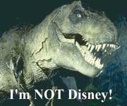 JP T-Rex i'm not disney