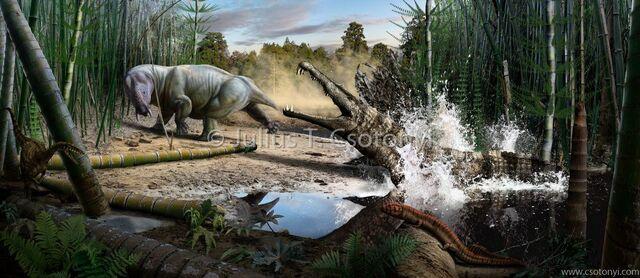 File:Triassic Placerias Smilosuchus Csotonyi3.jpg
