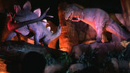 Ellen energy adventure stegosaurus vs allosaurus