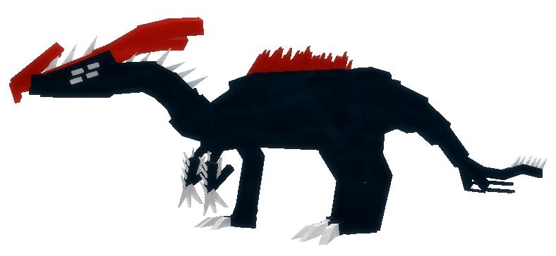 Dark Marine Parasaurolophus