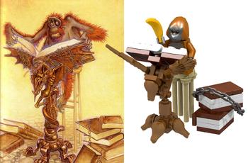 Comparison image of librarian