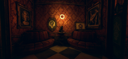 High res golden cat lounge