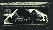 Assassinations and nonlethal takedowns