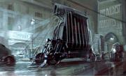Vehicle concept art by Viktor Antonov