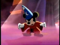 Sorcerer Mickey looks angry