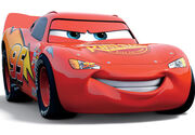 Rust-eze Stickers on lightning McQueen