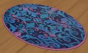 Round Ornate Rug