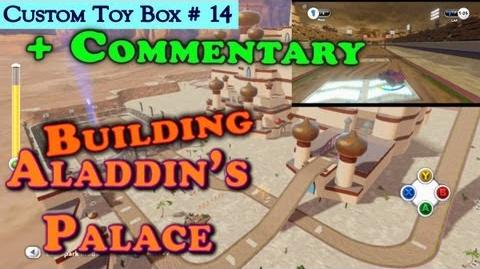 HD Disney Infinity Building Aladdin's Palace Race Track Custom Toy Box 14 Full Commentary