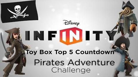 "DISNEY INFINITY ""Pirates Adventure Challenge"" Top 5 Toy Box Countdown"