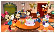 Mickey with Gang and Mii Photos