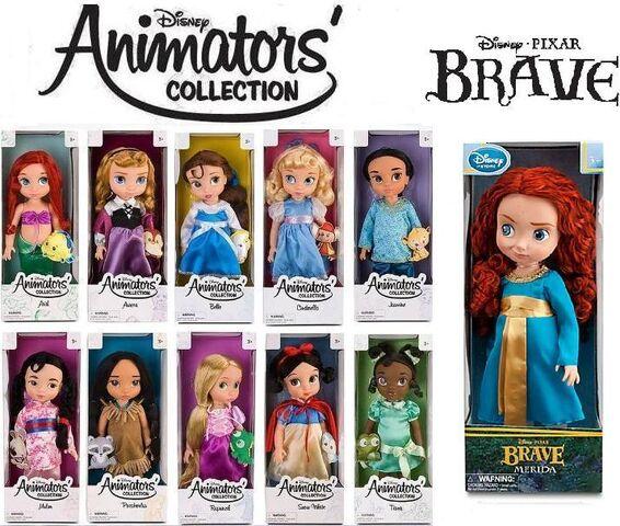 File:Disney Princess Animator's Collection dolls.JPG