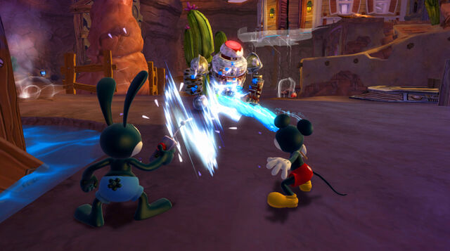 File:Mickey and Oswald Trying to defeat a Blot-Beetle worx.jpg