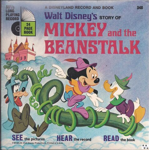 File:Mickey and the Beanstalk Record Disney Read-Along.JPG