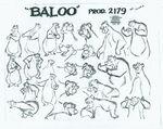 Baloo the Bear model sheet 423111500
