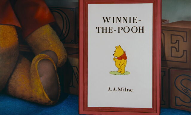 File:Winnie the Pooh is on the cover of his book.jpg