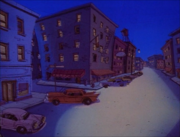 File:Goof Troop - Spoonerville - Downtown at Night from For Pete's Sake - 3.jpg