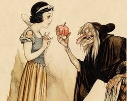 Snow White and the seven dwarfs concept art sketch
