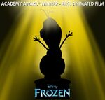 Frozen Acadamy Award Winner Best Animated Film Promotion
