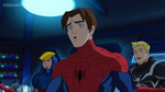 Peter Parker stands still Mary Jane