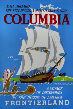 Sailing Ship Columbia poster
