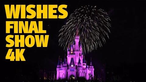 Final 'Wishes' Magic Kingdom Fireworks 4K Walt Disney World