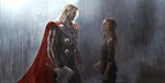 Thor and Jane in the Rain Concept Art