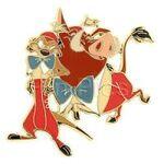 Timon&Pumbaa as Tweedledee and Tweedledum pin