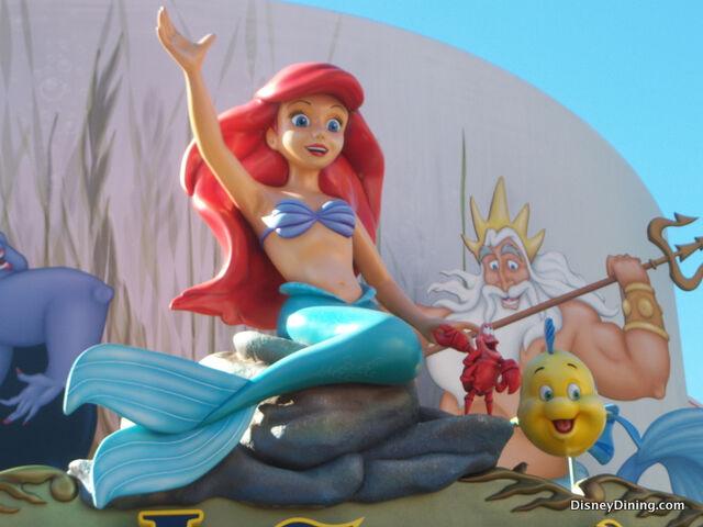 File:Ariel-waving-with-Flounder-and-Sebastian-Hollywood-Studios-Walt-Disney-World.jpg