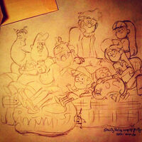 Alonso Ramos Gravity Falls Wrap-Up Promo Art