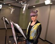Kelly Osbourne recording Hildy's voice