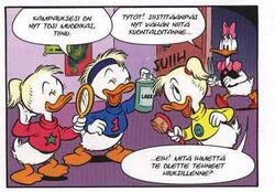 April May June from dutch comic translated in Finnish