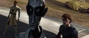 Vindi taunts Anakin and Obi-Wan