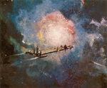 U S S Cygnus Concept Art by Peter Ellenshaw 01