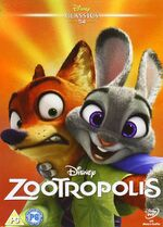 Zootropolis UK DVD 2016 Limited Edition slip cover