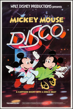 Mickey mouse disco 1980 poster