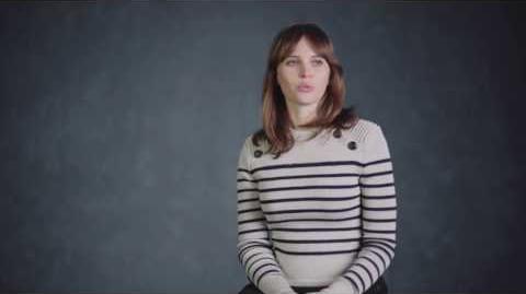 """Rogue One """"Jyn Erso"""" On Set Interview - Felicity Jones"""