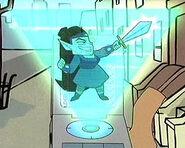 Pix McGee with Sword