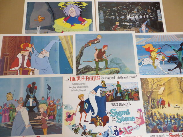 File:The sword in the stone lobby cards.jpg