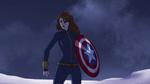 Widow with Cap's Shield AA 01