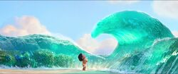 Moana meets the sea