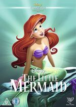 The Little Mermaid UK DVD 2014 Limited Edition slip cover