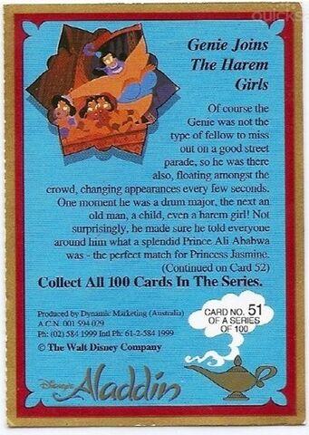 File:DISNEY ALADDIN CARD No 51 GENIE JOINS THE HAREM GIRLS BACK.jpg