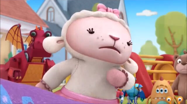 File:Lambie in toy in the sun.jpg