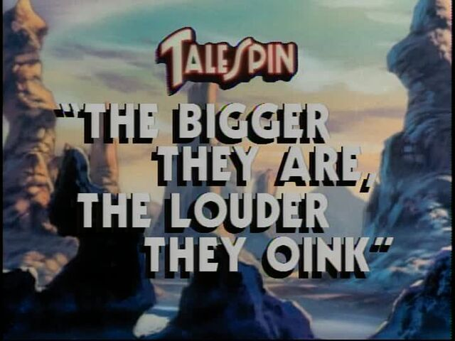File:The Bigger They Are, the Louder They Oink title card.jpg