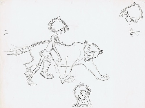 File:The Jungle Book Mowgli and Bagheera the black panther model sheet.jpg